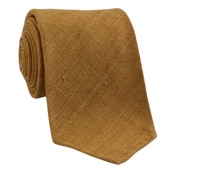 Shantung Silk Solid Tie in Cinnamon