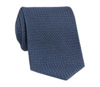 Silk Woven Grenadine Tie in Steel