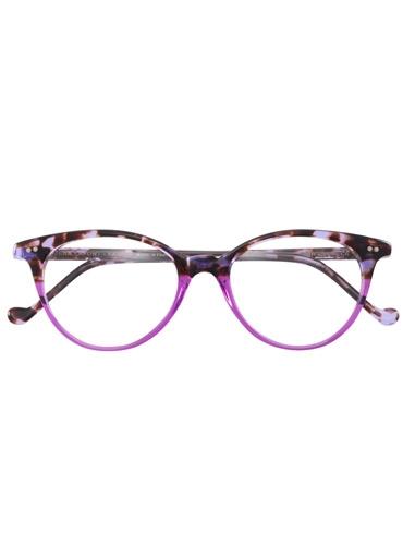Lafont Upswept Oval Frames in Purple Tortoise