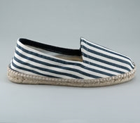 Navy and White Striped Espadrille
