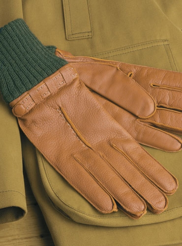 Tan Deerskin Gloves for Men