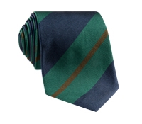 Silk Multi-Stripe Tie in Forest