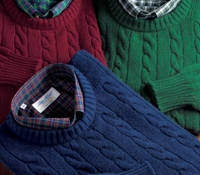 Cashmere Cable Crewneck Sweaters
