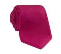 Silk Basketweave Tie in Raspberry
