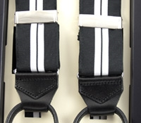 Double Striped Braces in Black and White