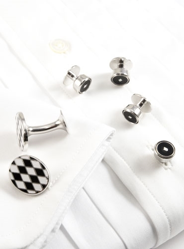 Black and White Diamonds Formal Wear Set
