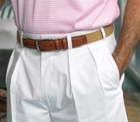 White Duck Shorts Plain Front