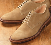 The Alden Plain Toe Blucher in Tan Suede