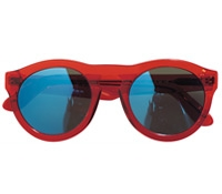 Large Bold Round Sunglasses in Red