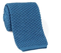 Classic Silk Knit Tie in Steel