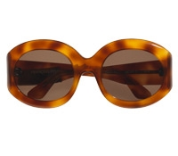 Large Oval Sunglass in Amber