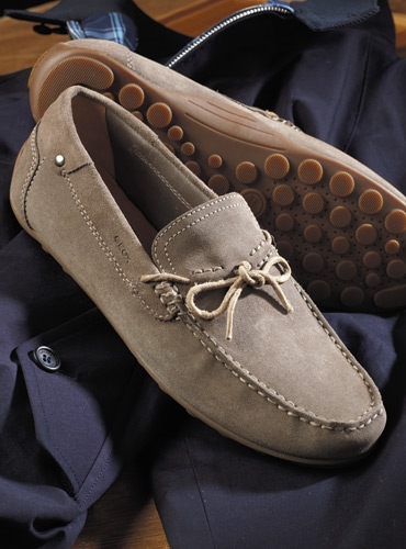 Geox Moccasins in Grey Suede