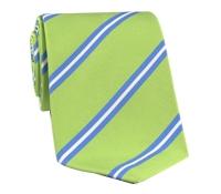 Mogador Silk Stripe Tie in Lime
