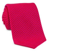 Basketweave Tie in Pink, Red & Maroon