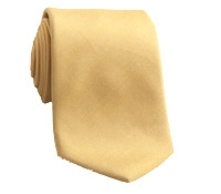 Oxford Weave Solid Silk Tie in Champagne