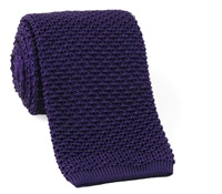 Classic Silk Knit Tie in Purple