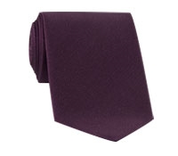 Mogador Silk Solid Tie in Wine