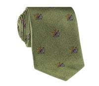 Silk Woven Crest Tie in Sage