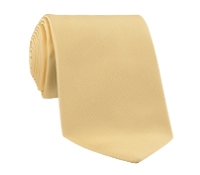 Woven Silk Solid Tie in Butter