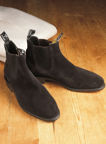 R M Williams Adelaide Boots In Black Suede