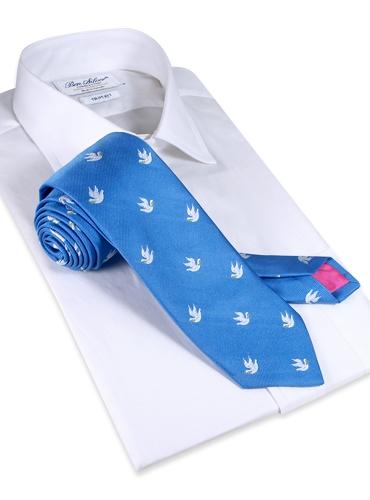Woven Dove of Peace Tie