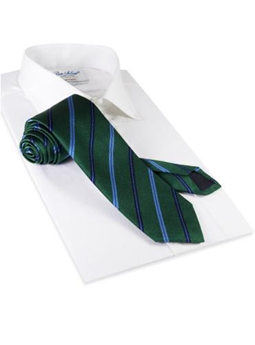 Silk Stripe Tie in Kelly