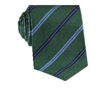 Silk Stripe Tie in Kelly