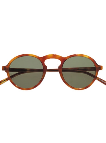 Round Arched Sunglasses in Amber