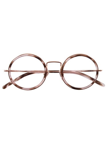 Lafont Retro Round Frame in Marbled Rose