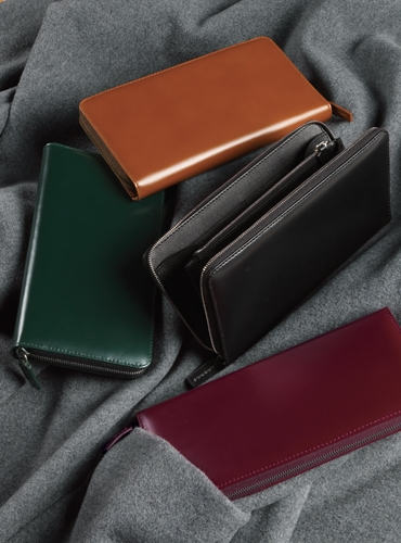 Bridle Leather Zip Wallets