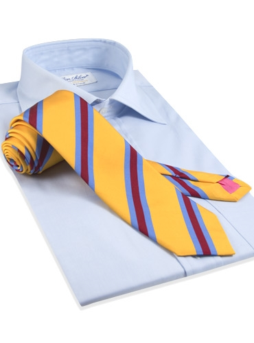 Mogador Silk Stripe Tie in Saffron