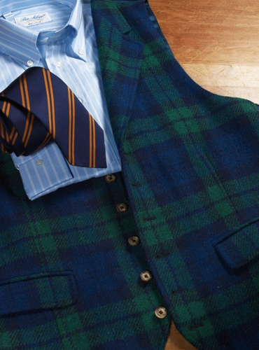 Black Watch Harris Tweed Waistcoat