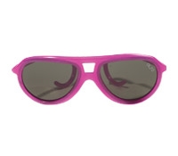 Children's Aviator Rubber Sunglass in Transparent Fuchsia