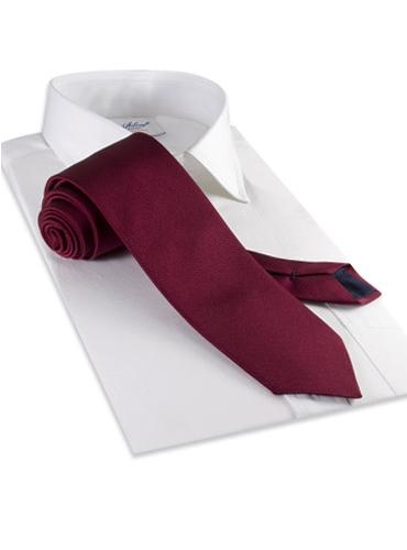 Mogador Silk Solid Tie in Cranberry