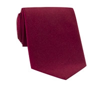 Mogador Silk Solid Tie in Cranberry