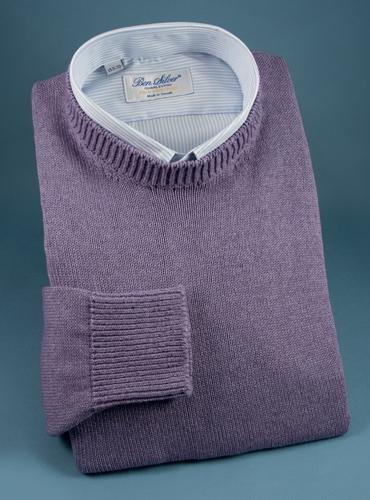 Cotton Cashmere and Silk Crewneck Sweater