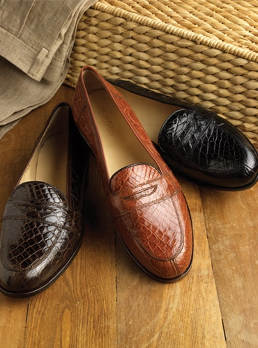 Nettleton Crocodile Loafers