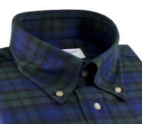 Brushed Cotton Black Watch Buttondown