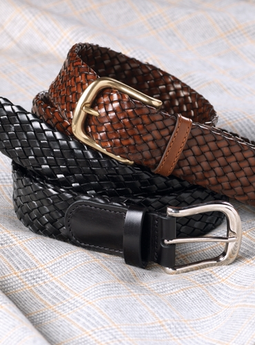 Basketweave Leather Belts
