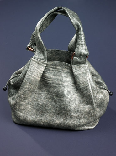 Grey Aviator Calfskin Bag