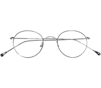 Nearly Round Metal Frames in Shiny Silver