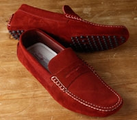 Driving Moccasins in Red