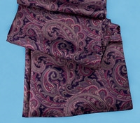 Ladies Silk Paisley Scarf in Imperial