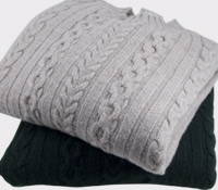 Cashmere Crewneck Cable Knit Sweaters