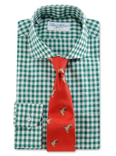 Woven Mallard Tie Poppy
