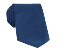 Mogador Silk Solid Signature Tie in Navy