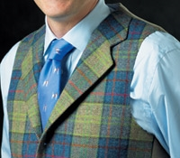 Delft and Regal Plaid Waistcoat with Bold Overcheck