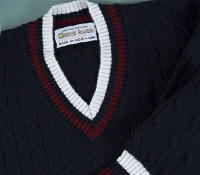 Cashmere Cricket Sweater in Dark Navy
