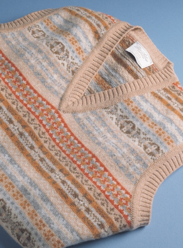 Lambswool Fair Isle Sweater Vest