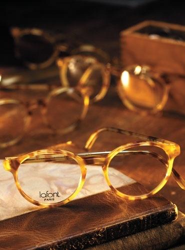 Lafont Pantheon Eyeglass Frames : Lafont Demi-Blond Pantheon Frame